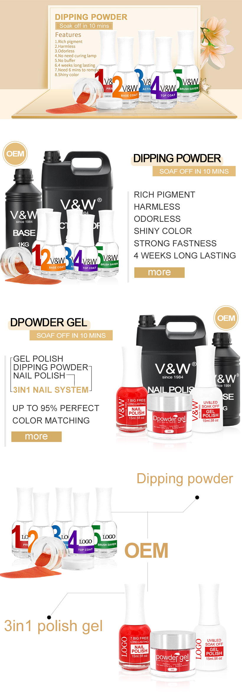 Easy Remove Quick Gel Nail Acrylic Dipping Powder System | Dip ...