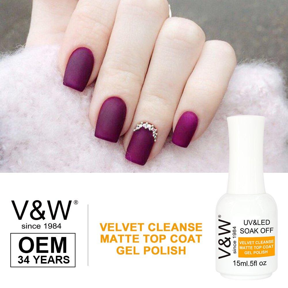 Velvet Cleanse Matte Top Coat Gel Polish | Uv/led Gel Polish | V&w ...
